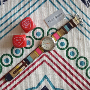 TOKYOBay | Watch-Multi Colored Canvas Band